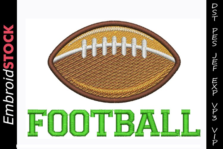 Football Embroidery Design example image 1