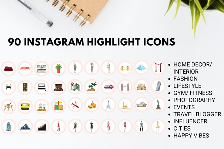 Instagram Story Highlight Icons- Set of 90 example image 1