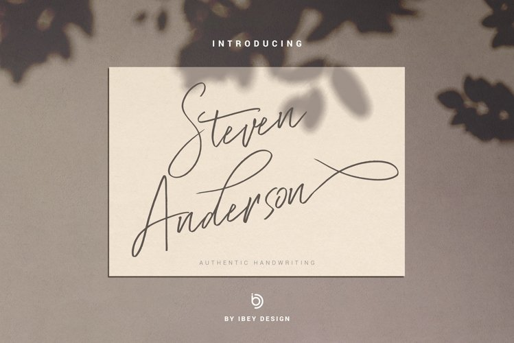 Steven Anderson - Authentic Handwriting example image 1