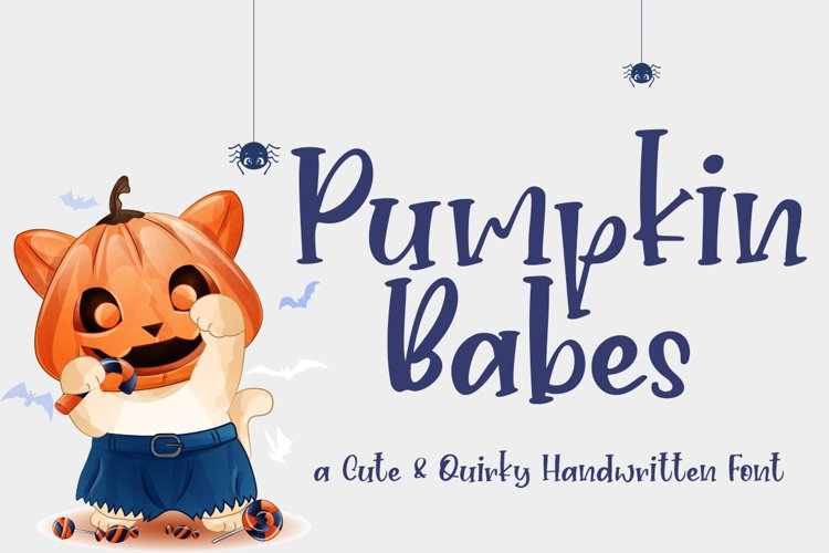 Pumpkin Babes Quirky and Cute Handwritten example image 1