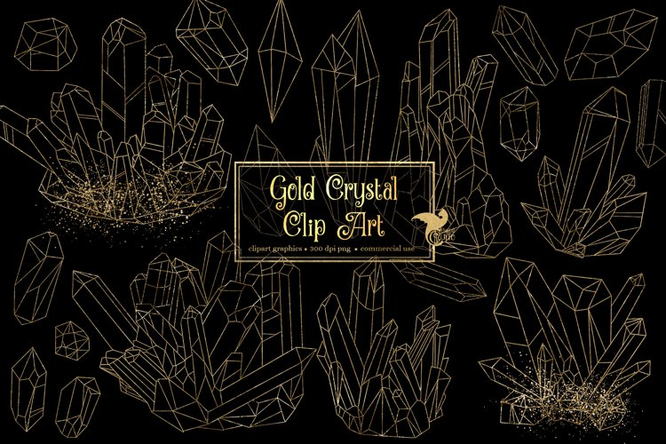 Gold Crystal Clipart