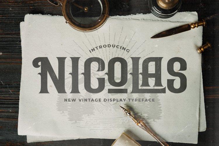 Nicolas - Victorian Decorative Font example image 1