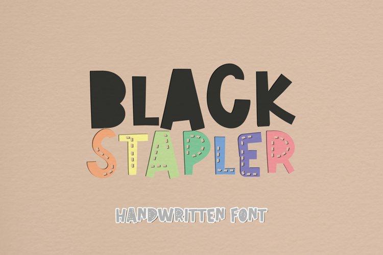 Black Stapler - A Sweet Handwritten Font example image 1