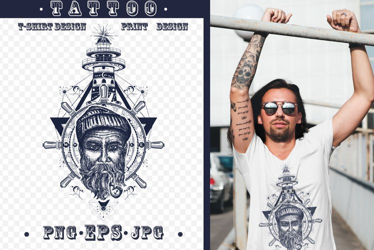 Sea wolf tattoo example image 1