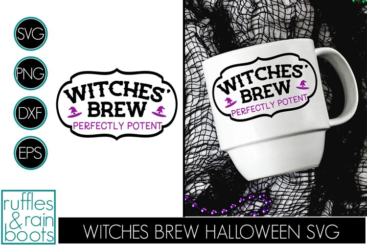 Witches Brew SVG -Halloween Fun Perfect on Cups and Tumblers example image 1