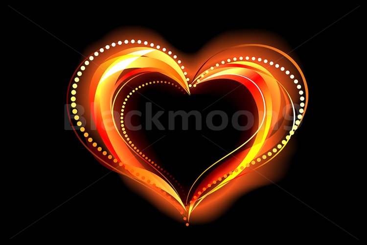 Flaming Heart example image 1