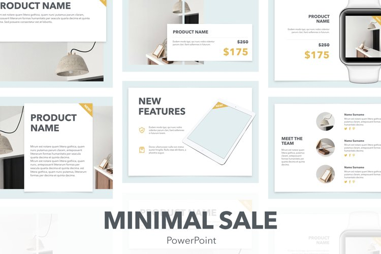 Minimal Sale PowerPoint Template example image 1