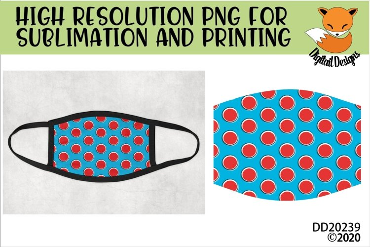 Children's Book Inspired Pattern Sublimation Design For Mask example image 1