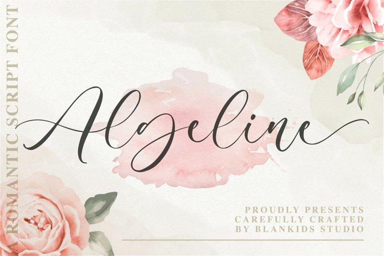 Algeline a Romantic Script Font example image 1