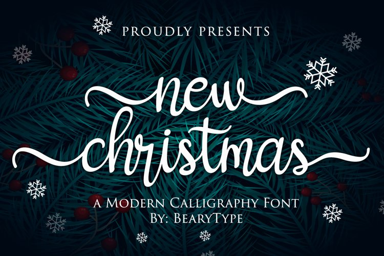 New Christmas - Modern Calligraphy example image 1