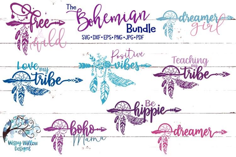 The Bohemian Bundle| Boho Feather SVG Cut Files Bundle