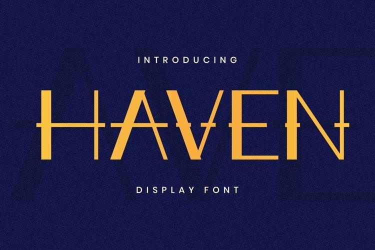 Web Font Haven Font example image 1