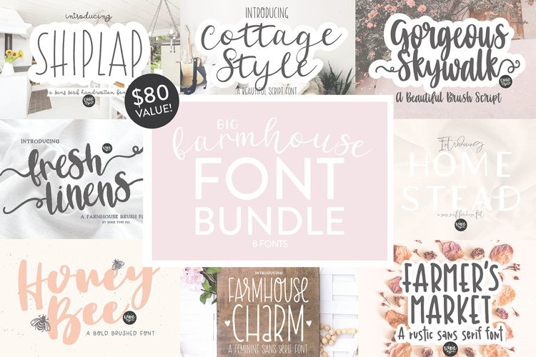BIG FARMHOUSE FONT BUNDLE - Dixie Type Co. example image 1