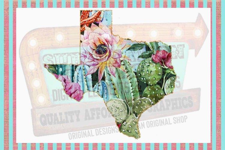 Cactus Texas Sublimation Digital Download example image 1