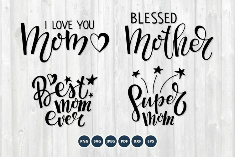 Mother SVG bundle. Mother's Day SVG Quotes example image 1