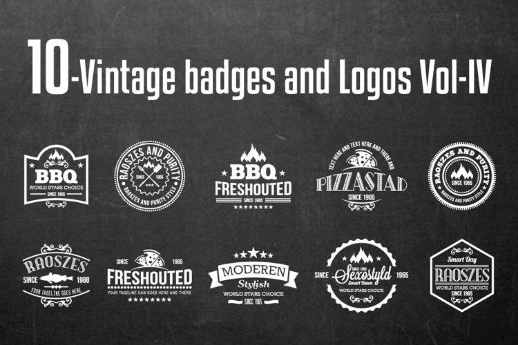 Vintage Badges and Logos Vol-4