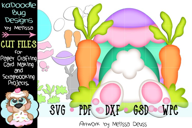Easter Bunny Bottom Egg House Cut File - SVG PDF DXF GSD WPC