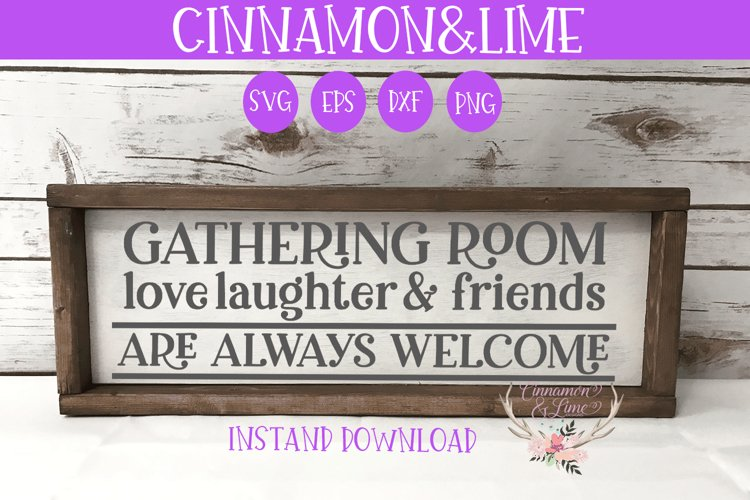 Gathering Room Fall Wood Sign SVG example image 1