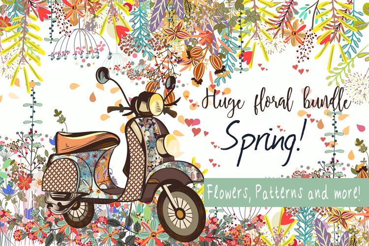 Its spring! Illustrations, elements, patterns, cards and more