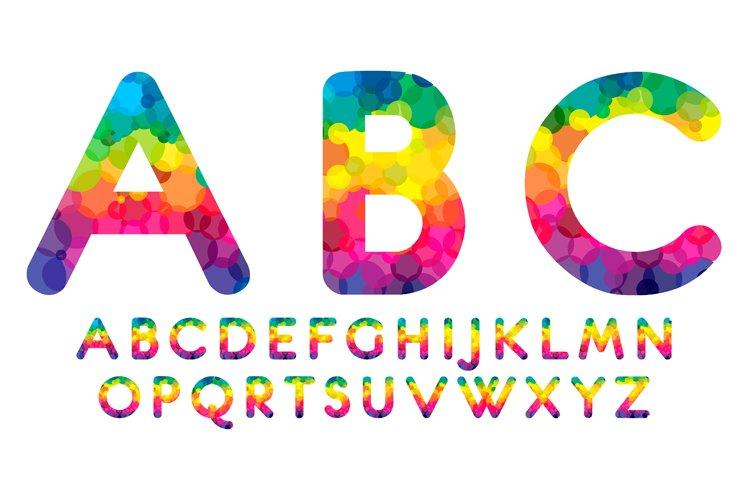 Rainbow font example image 1