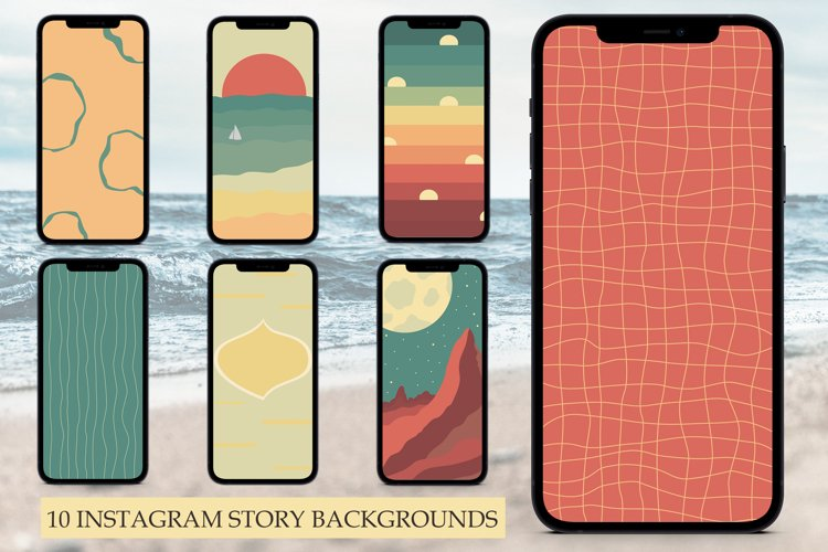 10 Instagram Story Backgrounds, Instagram Templates example image 1