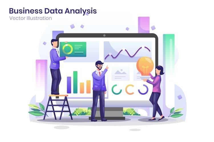 Data Analysis concept flat illustration