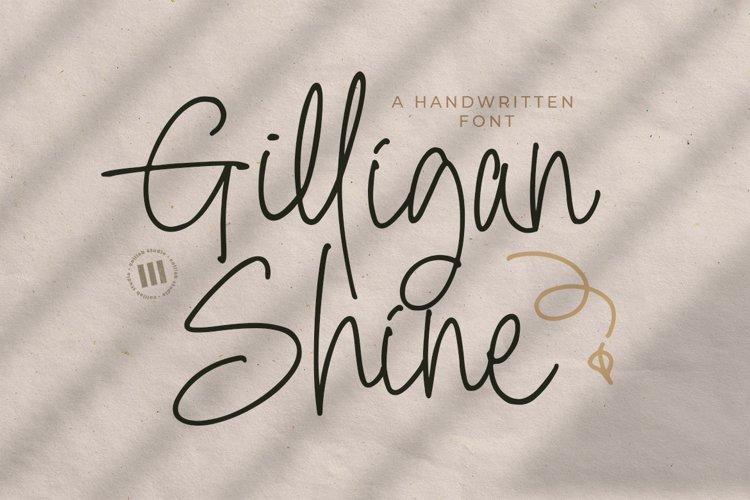 Gilligan Shine - A monoline Handwritten Font