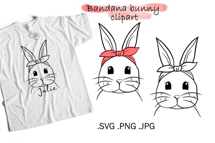 Bunny SVG bandana - Easter Bunny Clipart example image 1