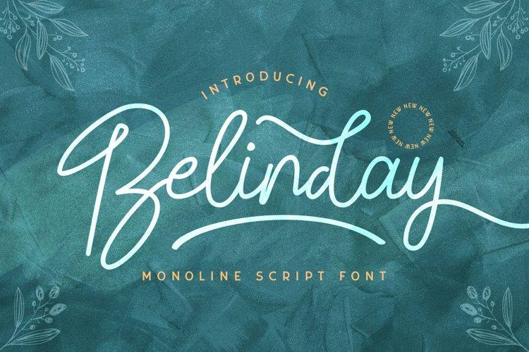 Belinday - Monoline Script Font example image 1
