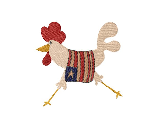 Liberty Chicken in 2 sizes - Instant Download example image 1