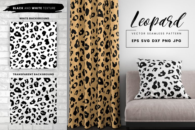 Leopard Print Seamless Pattern Repeat Animal Texture SVG EPS example image 1