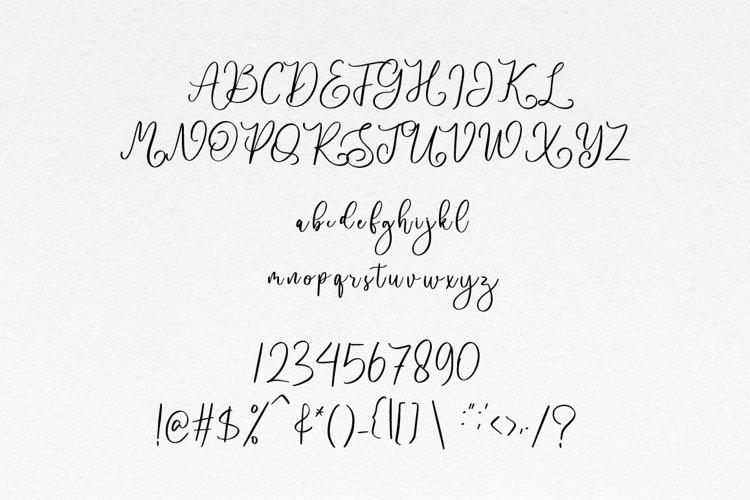Nathalia - Handwritten Font example 6
