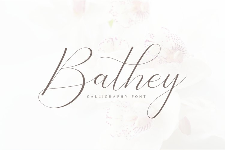 Bathey Calligraphy Font example image 1
