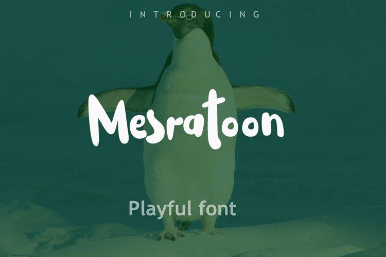 Mesratoon Font example image 1