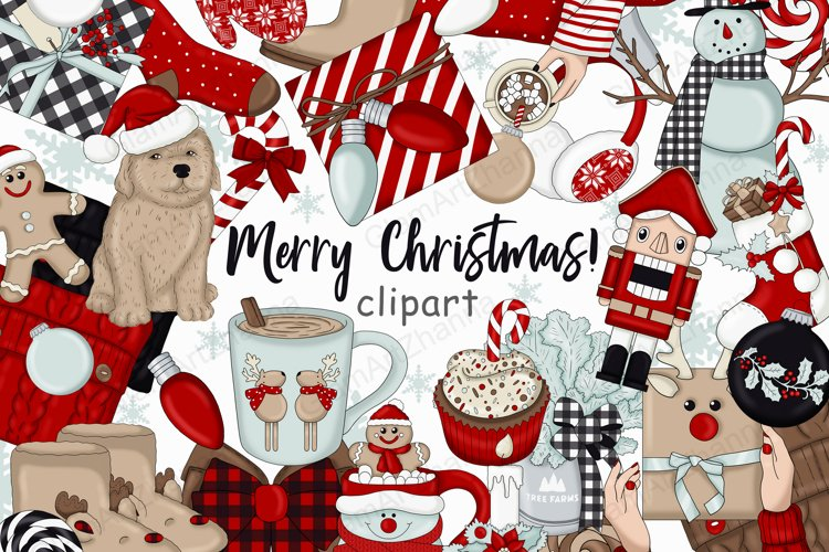 Merry Christmas! CLIPART Holiday Planner Stickers PNG Files