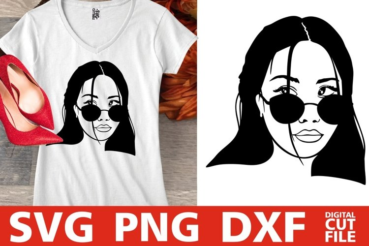 Asian Girl In Sunglasses svg, Japan svg, Filipino svg, Anime example image 1