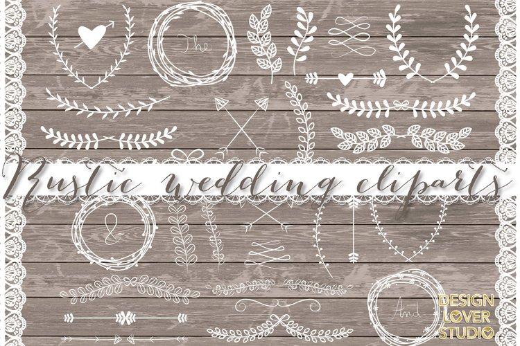 VECTOR Laurels, Flower, Wedding clipart