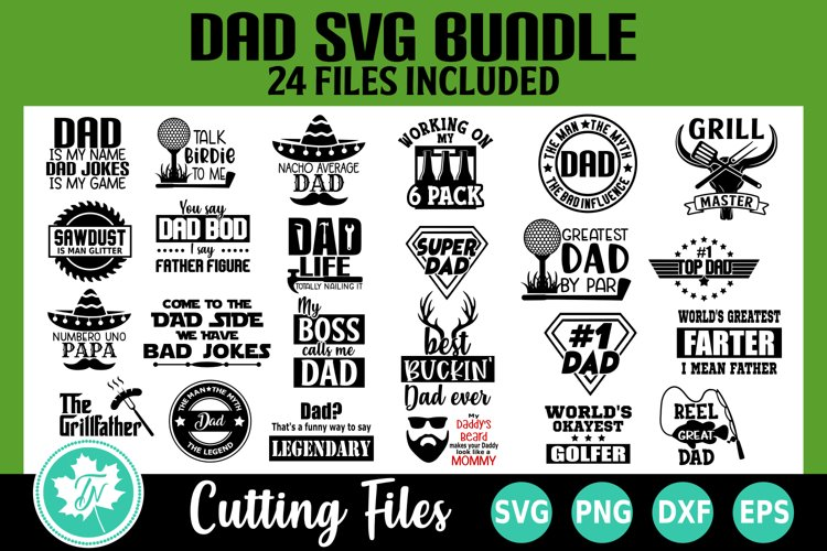 Dad Fathers Day SVG Bundle - 24 Pack