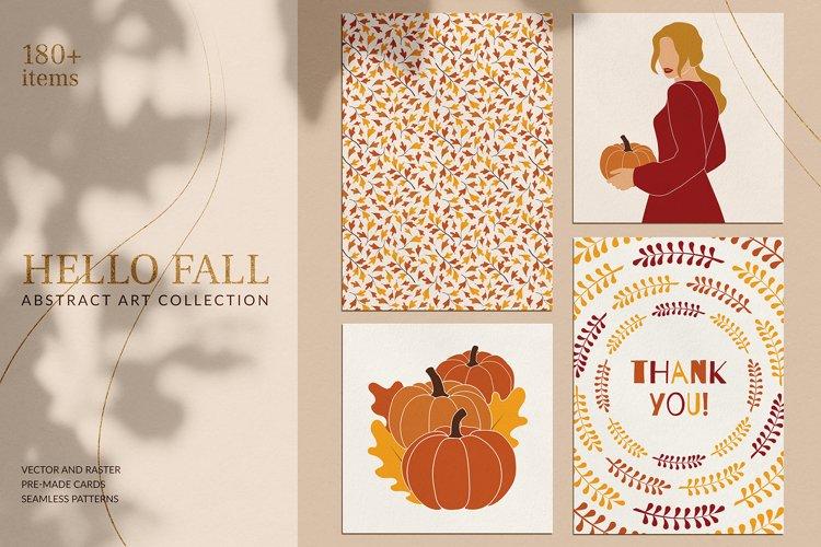 Hello Fall Abstract Art Set example image 1
