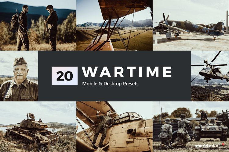 20 Wartime Lightroom Presets and LUTs example image 1