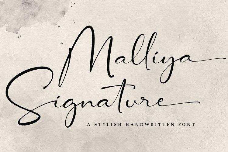 Signature Font - Malliya example image 1
