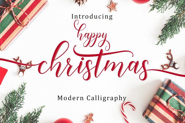 Happy Christmas Script | WEB FONT example image 1