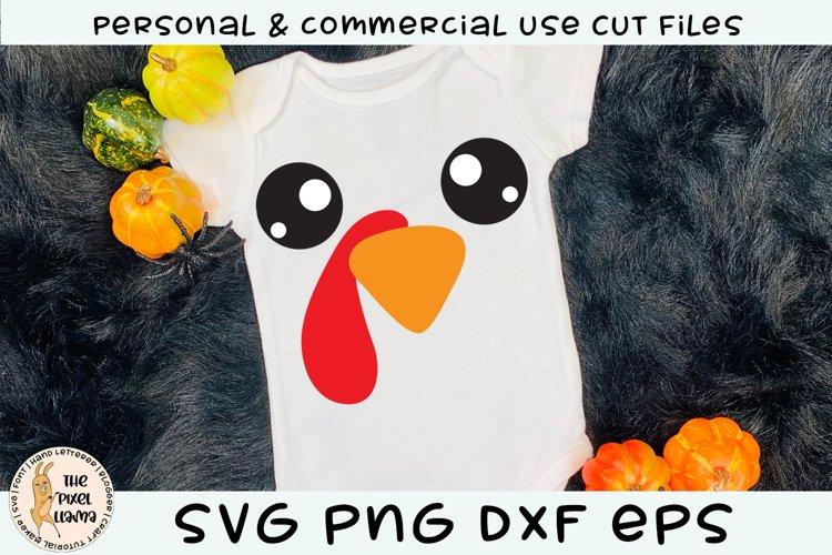 Turkey Face SVG Cut File example