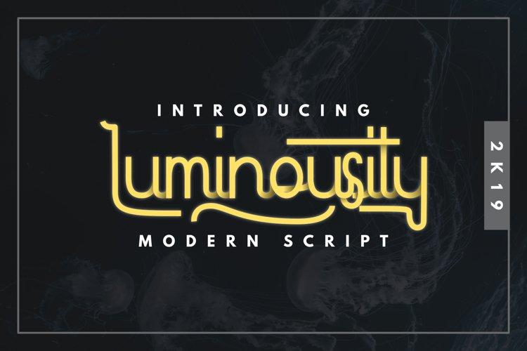 Luminousity - Modern Script example image 1