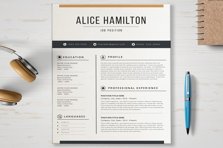 Resume Template example image 1