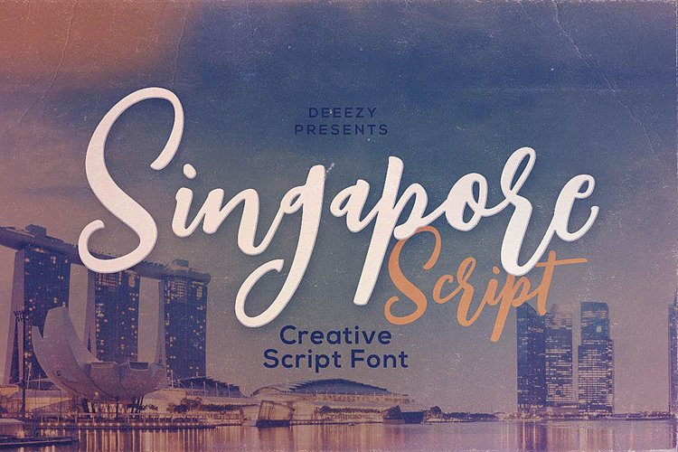 Singapore Script Font example image 1