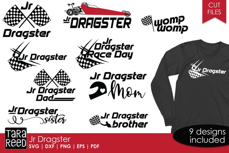 Jr Dragster - Racing SVG and Cut Files for Crafters