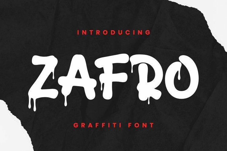 Web Font Zafro Font example image 1
