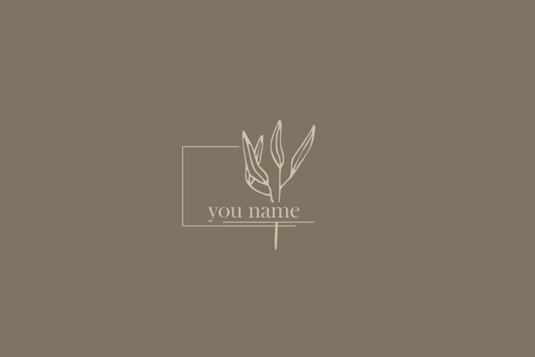LOGO design Photography Clean Simple Floral Botanical example image 1