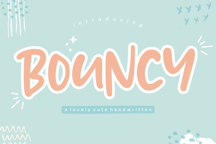 BOUNCY Lovely Cute Handwritten Font example image 1
